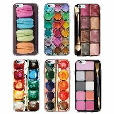 colorful watercolors set paint palette cake macaroon makeup soft phone case fundas for iphone 6 6s 6plus 7 7plus 5 5s se samsung cell phone cover cell phone