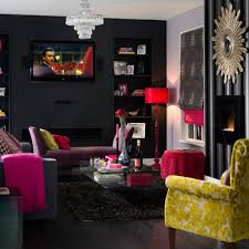 Unique Wall Colors Dark Grey Wall Color With Pink Floor Lamp For Unique Living Room