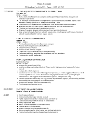 Acquisition Coordinator Resume Samples Velvet Jobs