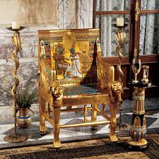 Design Toscano Egyptian Wings Of Horus Grand Altar Console Table Design Toscano King Tutankhamen Egyptian Throne Chair