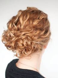 easy curly hair updo
