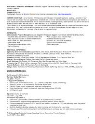 It Support Resume Resume Work Template