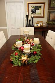 Simple Candle Decoration Enticing Christmas Centerpieces Decorating Idea With Cream Candles