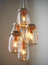 image of diy mason jar light fixture furniture