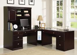 image of computer desk with hutch and drawers