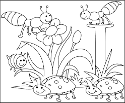 34 Spring Coloring Pages For Kids Printable 5 Best Images Of
