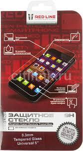 Купить <b>Защитное стекло</b> для экрана <b>REDLINE</b> для смартфонов 5 ...