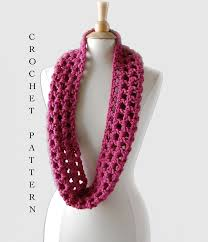 Crochet Infinity Scarf Pattern In The Round Interesting Inspiration