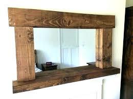 rustic wood mirror frame. S Rustic Wood Mirror Frame Diy