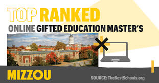 the university of missouri s master s in special education with an emphasis in gifted education ranks no 2 on the 30 best master s in gifted