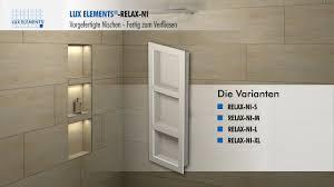 Lux Elements Montage Vorgefertigte Nischen Relax Ni Für Den Einbau
