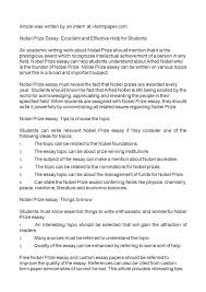 nobel prize essay excellent and effective help for students