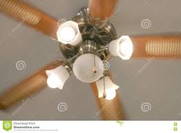 Relocate Ceiling Light Moving Ceiling Fan With Lamp In Vintage Style Stock Photo