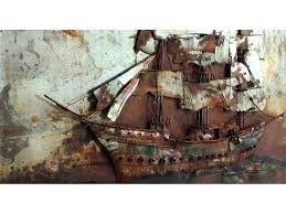 boat wall art tall ship metal wall art boat hull wall art