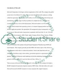 Microsoft Corporate Strategy Microsoft Corporation Corporate Business And Strategy Essay