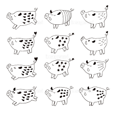 手書きのかわいい猪イラストの画像素材41135639 イラスト素材なら
