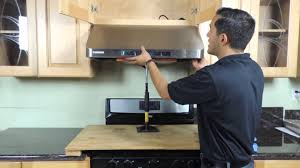 Kitchen Hood Under Cabinet Range Hood Installation New Version Youtube