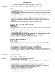 Internal Medicine Physician Resume Samples Velvet Jobs