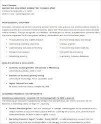 professional marketing assistant resume sample marketing assistant resume
