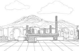 Pompeii Kleurplaat Gratis Kleurplaten Printen