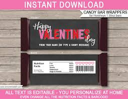 Personalized Candy Bar Wrapper Template Valentines Day Candy Bar Wrappers Template Candy Bar