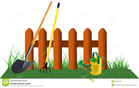Small Picture Fence In Grass With Garden Tools Stock Images Image 35962614
