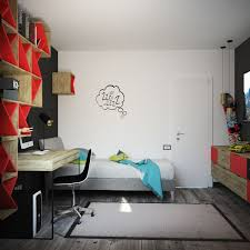 Skateboard Bedroom Teens Room Black And Red Boys Room Features Floating Shelves With