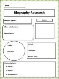 biography rubric teaching writing non fiction short biography research graphic organizer
