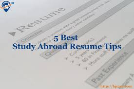 5 Best Study Abroad Resume Tips The Best Places To Study Abroad