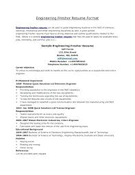 Fresher Resume Format For Engineers Fresher Resume Templates