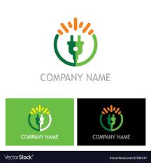 Electric Bio Energy Logo Royalty Free Vector Image