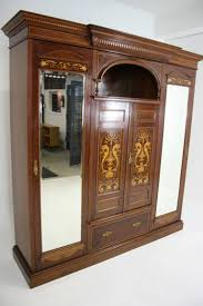 english antique armoire antique. Antique English Neoclassical Inlaid Mahogany Armoire Or Wardrobe, 1890 In Excellent Condition For Sale E