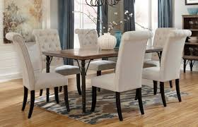 charming design tufted dining room sets chair grey from cream home wall art chairs hafoti furniture black padded armless wood with arms table