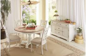 cottage dining room tables. Cresent Fine Furniture Cottage 5-Piece Round Dining Room Set In Two Toned Tables