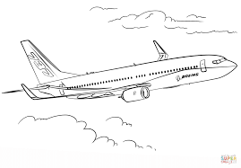 Small Picture Boeing 737 coloring page Free Printable Coloring Pages