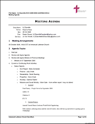 agenda of a meeting format basic church meeting agenda template and outline duyudu