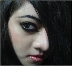 emo makeup lips
