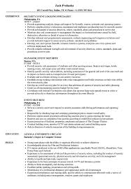 Security Resume Sample Beauteous Event Security Resume Samples Velvet Jobs