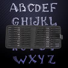 36pcs carbon steel punch alphabet number stamp set metal a z letters punch leather decoration craft tools jpg