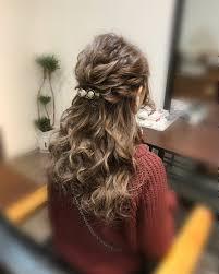 ハーフアップ ロング ねじり 結婚式hair Salon Stella Mai 448067hair