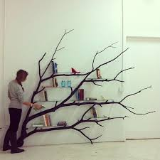 Tree branch shelf- how would this look over the forest wallpaper .