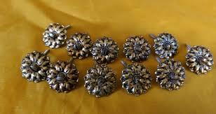 brass mirror rosettes