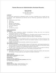 human resources resume examples resume badak - Sample Human Resource  Administration Resume