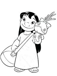 Stitch Coloring Pages Cute Lilo And Stitch Coloring Pages For