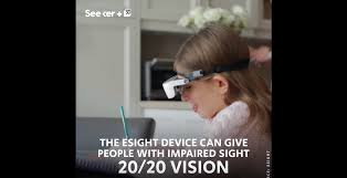 this ocular headset gives the gift of sight