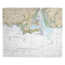 Ct Old Saybrook Ct Nautical Chart Blanket In 2019 Island