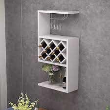 white contemporary wall mounted wine