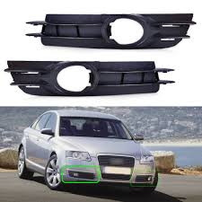 2006 Audi A4 Fog Light Grill Us 19 49 22 Off Beler 2x Front Fog Light Lamp Grill Grille For Audi A6 And A6 Quattro C6 2005 2006 2007 2008 4f0807681a 4f0807682a In Racing Grills