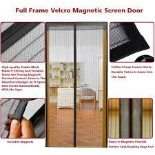AIKELIDA Magnetic Screen Door - Full Frame Velcro, Keeps Bugs ...