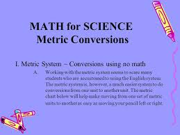 Easy Metric Chart Math For Science Metric Conversions Ppt Video Online Download